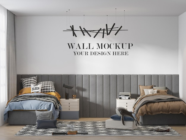 Modernes teenager-schlafzimmer-wandmodell
