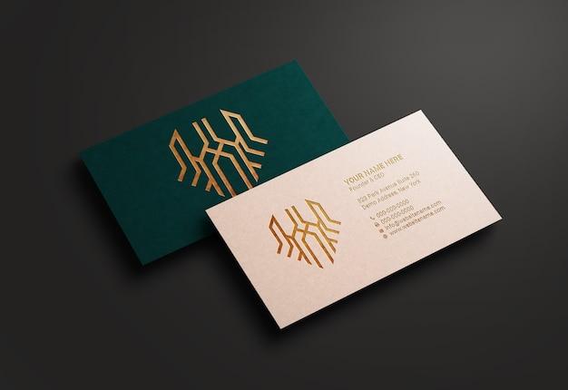 Modernes und luxuriöses visitenkartenmodell