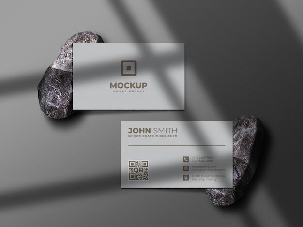 Modernes und professionelles visitenkartenmodell