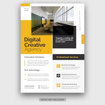 Modernes unternehmen business a4 flyer poster vorlage broschüre cover design layout psd premium psd