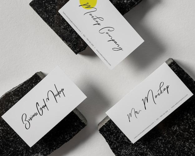 Modernes visitenkarten-mock-up-arrangement
