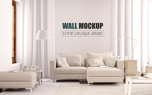 Modernes wohnzimmer design wandmodell