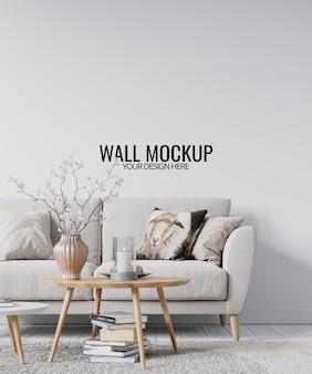 Modernes wohnzimmer-wandmodell des innenraums