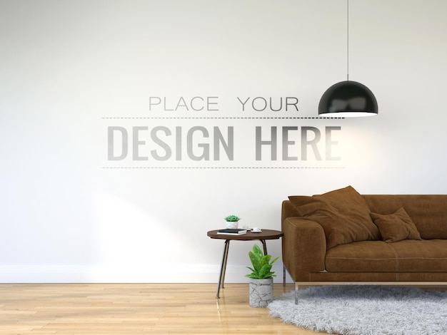 Modernes wohnzimmerinnenwandmodell