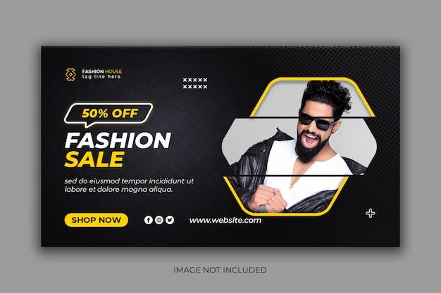 Modeverkauf instagram social media banner vorlage