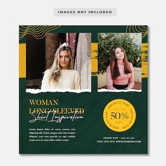 Modeverkauf rabatt social media instagram vorlage