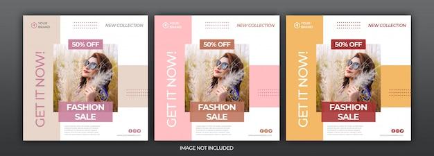 Modeverkauf social media instagram banner post vorlage