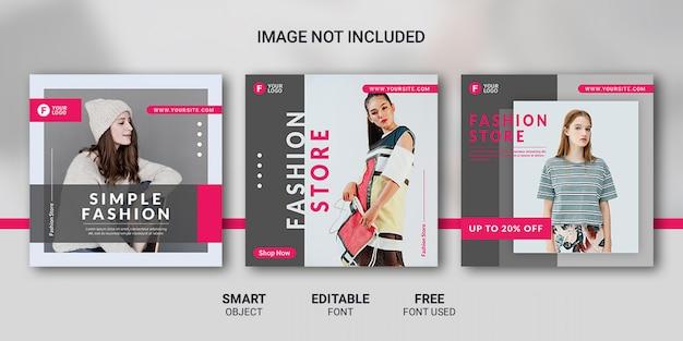 Modeverkauf social media post vorlage