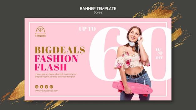 Modeverkaufsbannerschablone