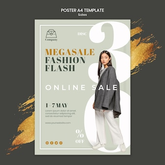 Modeverkaufsdruckvorlage