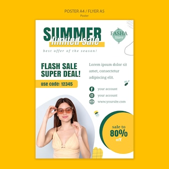 Modeverkaufsdruckvorlage Kostenlosen PSD