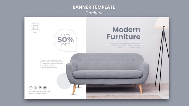 Möbel banner vorlage