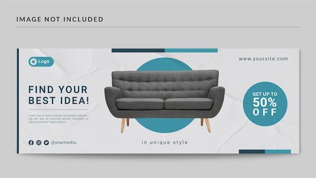 Möbel facebook cover und web-banner-vorlage