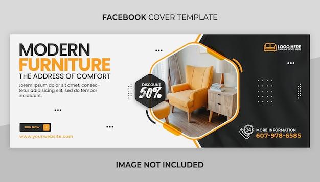 Möbel facebook-cover und web-banner-vorlage