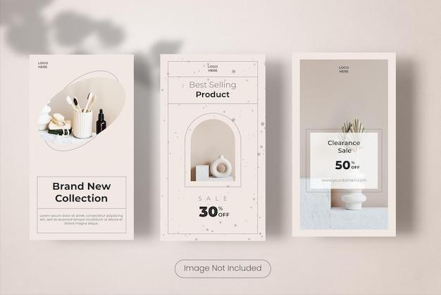 Möbel-instagram-geschichten-vorlagen-banner-set