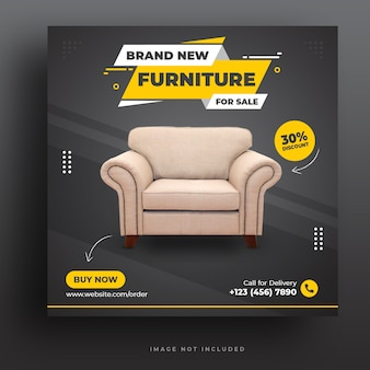 Möbel instagram post oder social media banner premium psd