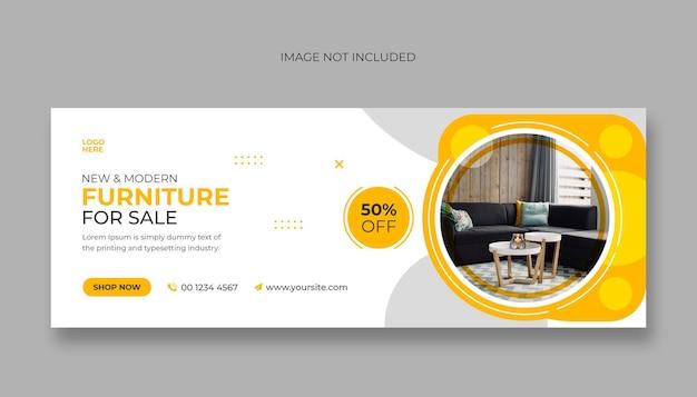 Möbel social-media-facebook-cover und web-banner-vorlage