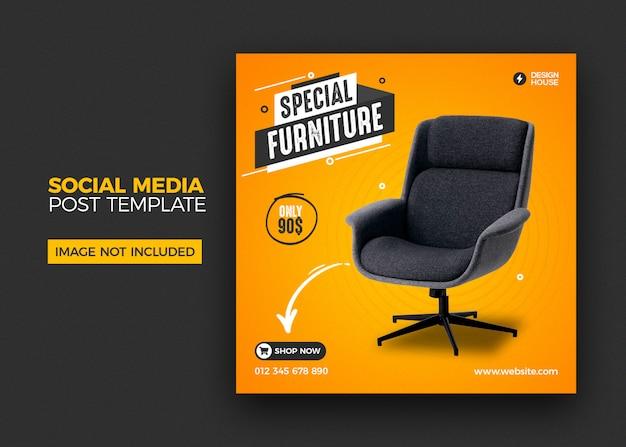 Möbel social media instagram post vorlage