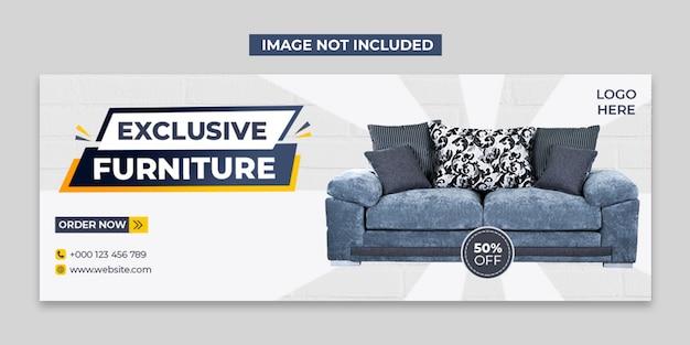 Möbel social media und facebook cover post vorlage