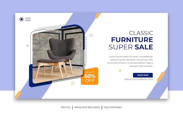 Möbel verkauf banner design-vorlage