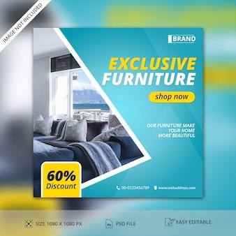 Möbel-verkaufs-social media-beitrags-fahnen-schablone