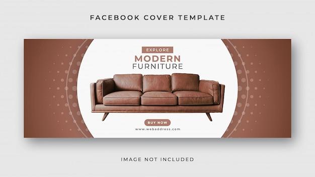 Möbelverkauf facebook cover banner vorlage Premium PSD