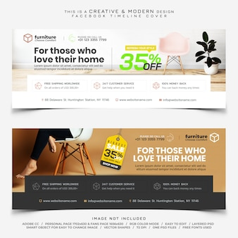 Möbelverkauf facebook timeline cover banner