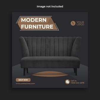 Möbelverkauf social media banner vorlage