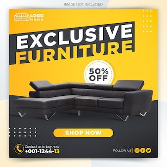 Möbelverkauf social media post vorlage