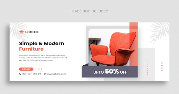 Möbelverkauf social media web-banner-flyer und facebook-cover-foto-design-vorlage