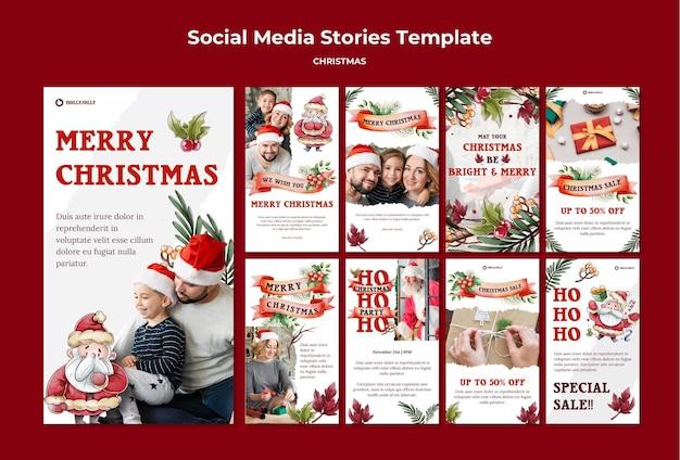 Mögen ihre weihnachten helle und fröhliche instagram-geschichten sein