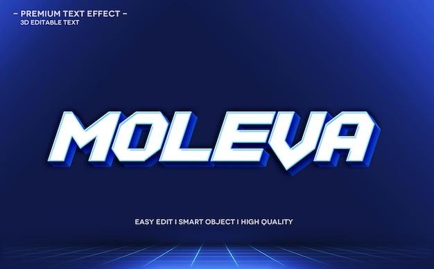 Moleva 3d-textstil-effektvorlage