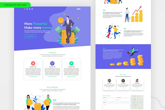 Money website page design