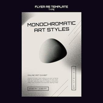 Monochrome kunstdruckvorlage