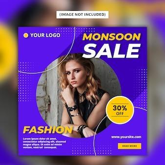 Monsoon sale social media post vorlage