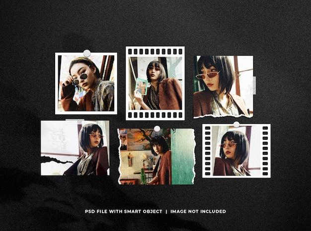 Moodboard collage mockup