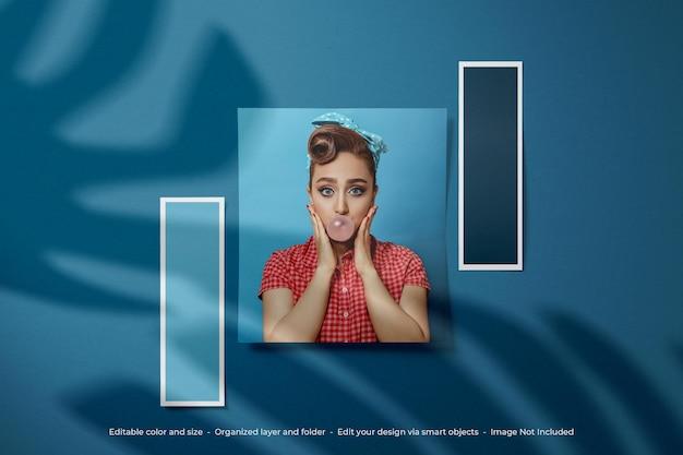Moodboard foto polaroid mockup design