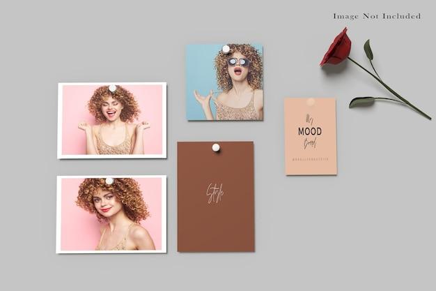 Moodboard polaroid fotomodell