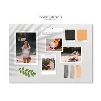 Moodboard poster template design