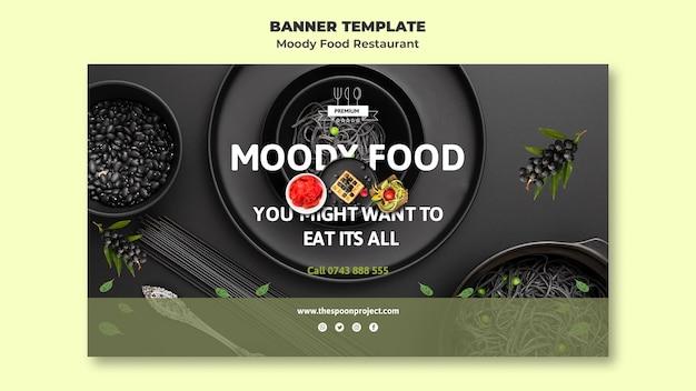 Moody food restaurant banner vorlage