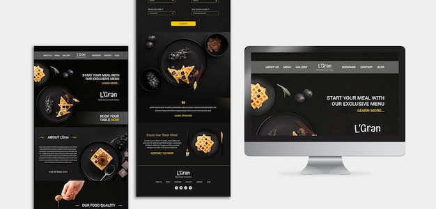 Moody food restaurant website vorlage