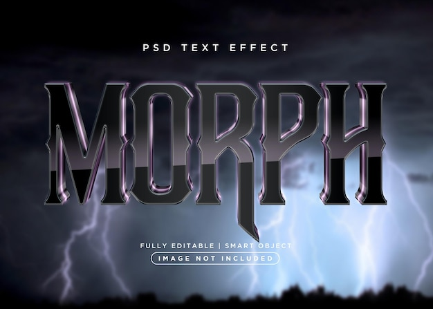 Morph-texteffekt im 3d-stil