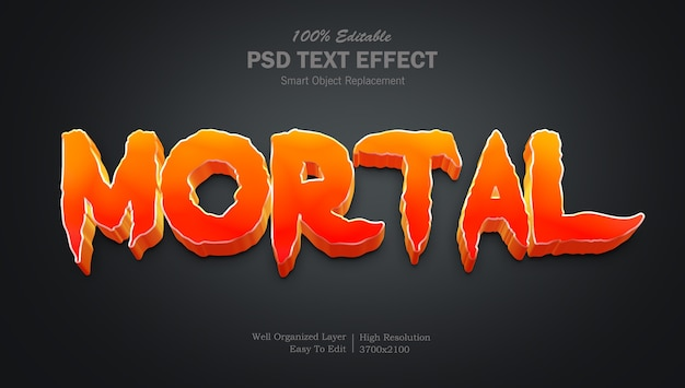 Mortal movie style texteffekt