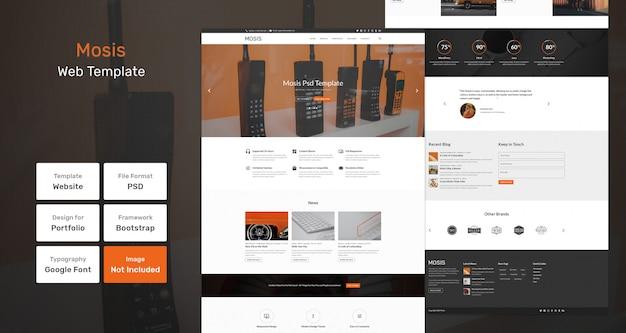 Mosis-webvorlage