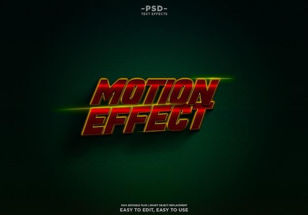 Motion effect movie trailer texteffekt premium psd