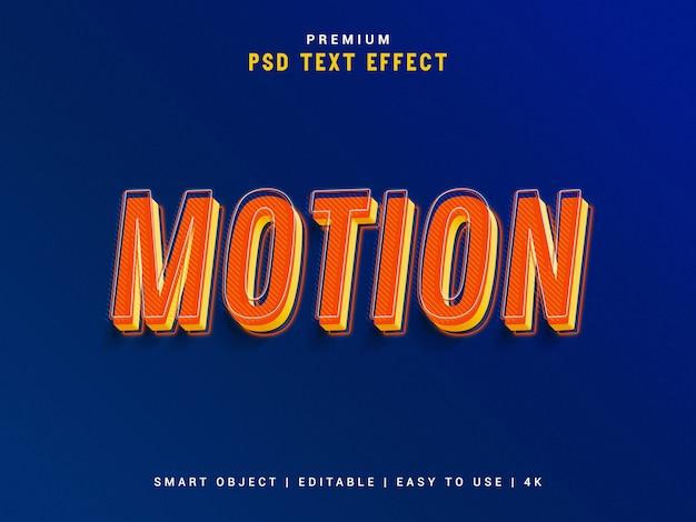 Motion text effect maker