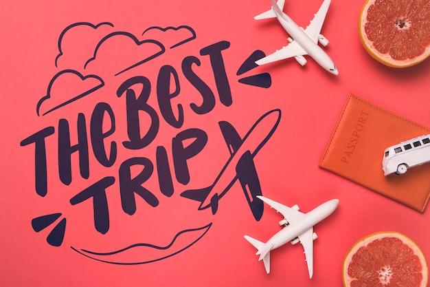 Motivbeschriftungszitat für reisendes konzept der feiertage