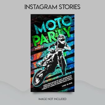 Moto party instagram geschichten vorlage
