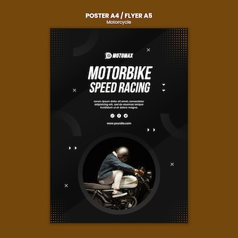 Motorrad-konzeptplakatdesign
