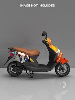 Motorrad roller mockup